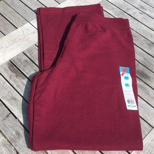 NWT 🥊 HANES BURGUNDY RED SWEAT PANTS Women's M